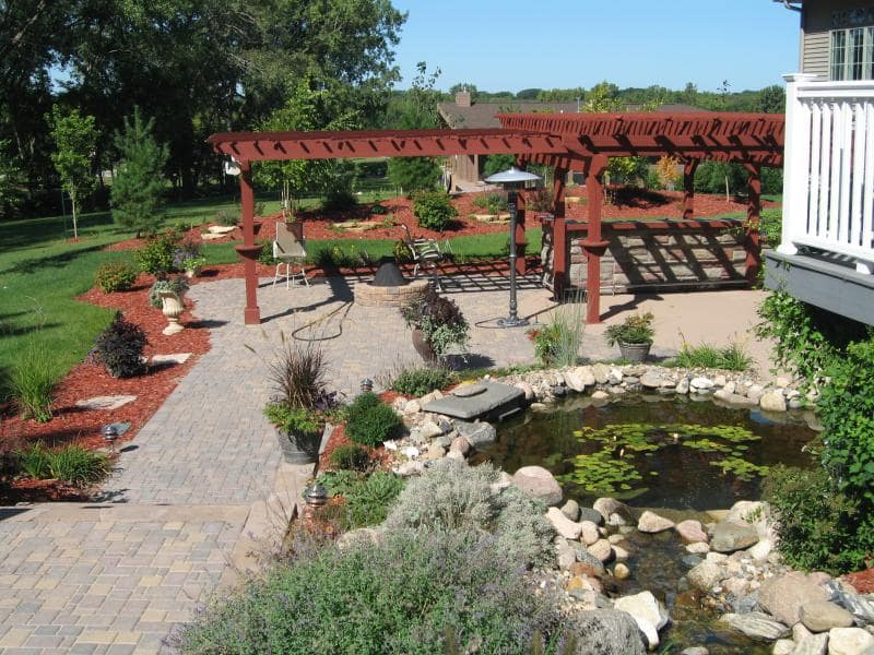 back yard landscape project