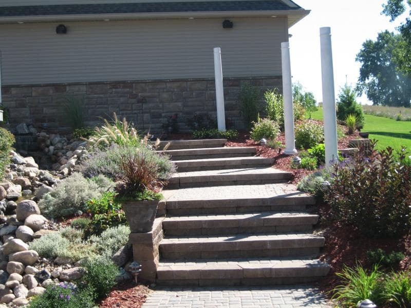 Stair landscaping